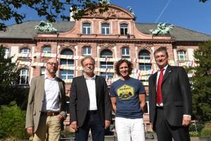Dr. Bernd Herkner, Prof. Volker Mosbrugger, Stefan Glowacz, Dr. Martin Cepek_Foto Sven Tränkner