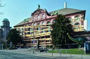 Fotomontage_Senckenberg Naturmuseum mit Bauband